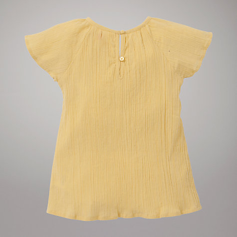 Buy John Lewis Woven Butterfly Top, Yellow Online at johnlewis.com