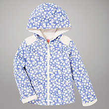 Buy John Lewis Scratch Print Zip Top, Blue Online at johnlewis.com