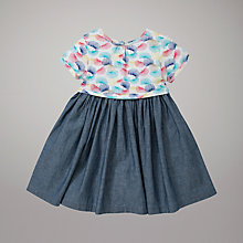 Buy John Lewis Chambray Jersey Dress, Blue/Multi Online at johnlewis.com