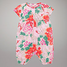 Buy John Lewis Floral Print Playsuit, Pink Online at johnlewis.com