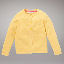 Buy John Lewis Pointelle Cardigan, Yellow Online at johnlewis.com