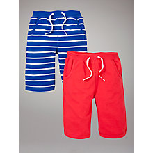 Buy John Lewis Bermuda Shorts, Pack of 2, Blue/Red Online at johnlewis.com