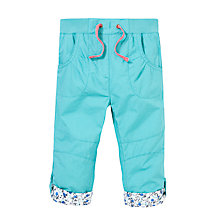 Buy John Lewis Poplin Roll-Up Trousers, Green Online at johnlewis.com