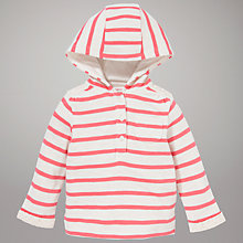 Buy John Lewis Stripe Hoodie, Pink/Cream Online at johnlewis.com