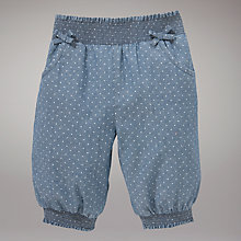 Buy John Lewis Spotty Chambray Bloomers, Blue Online at johnlewis.com