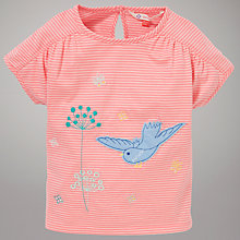Buy John Lewis Bird Stripe T-Shirt, Pink Online at johnlewis.com