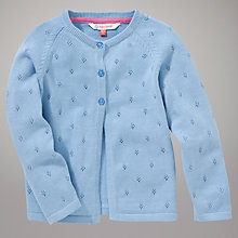 Buy John Lewis Pointelle Cardigan, Blue Online at johnlewis.com