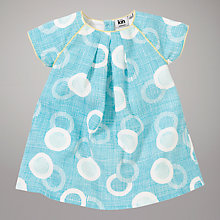 Buy Kin by John Lewis Floating Egg Print Linen Dress, Turquoise Online at johnlewis.com