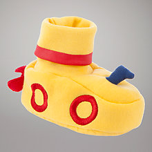 Buy John Lewis Baby Submarine Slippers, Yellow Online at johnlewis.com