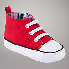 Buy John Lewis Baby Baseball Booties, Red Online at johnlewis.com