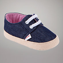 Buy John Lewis Baby Espadrille Shoes, Chambray Online at johnlewis.com