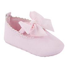 Buy John Lewis Baby's Scallop Shoe, Pink Online at johnlewis.com