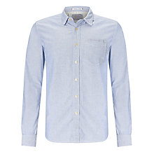 Buy Replay Long Sleeve Chambray Shirt, Pale Azure Online at johnlewis.com
