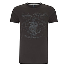 Buy Replay Dragon Print T-Shirt, Black Online at johnlewis.com