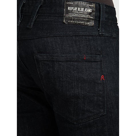 Buy Replay Anbass Slim Fit Tapered Jeans, Dark Rinse Online at johnlewis.com