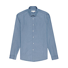 Buy Reiss Lane Washed Denim Shirt, Blue Online at johnlewis.com