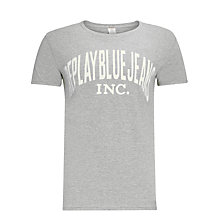 Buy Replay Blue Jeans Logo T-Shirt Online at johnlewis.com