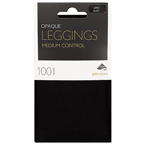 Buy John Lewis 100 Denier Shaper Leggings, Black Online at johnlewis.com
