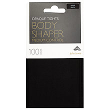 Buy John Lewis 100 Denier Bodyshaper Opaque Tights, Black Online at johnlewis.com
