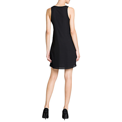 Buy Mango Rhinestone Flowy Dress, Black Online at johnlewis.com