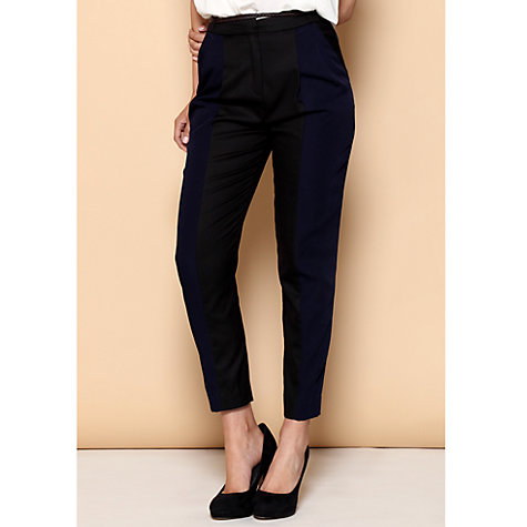 Buy Paisie Peg Leg Trousers, Black/Navy Online at johnlewis.com