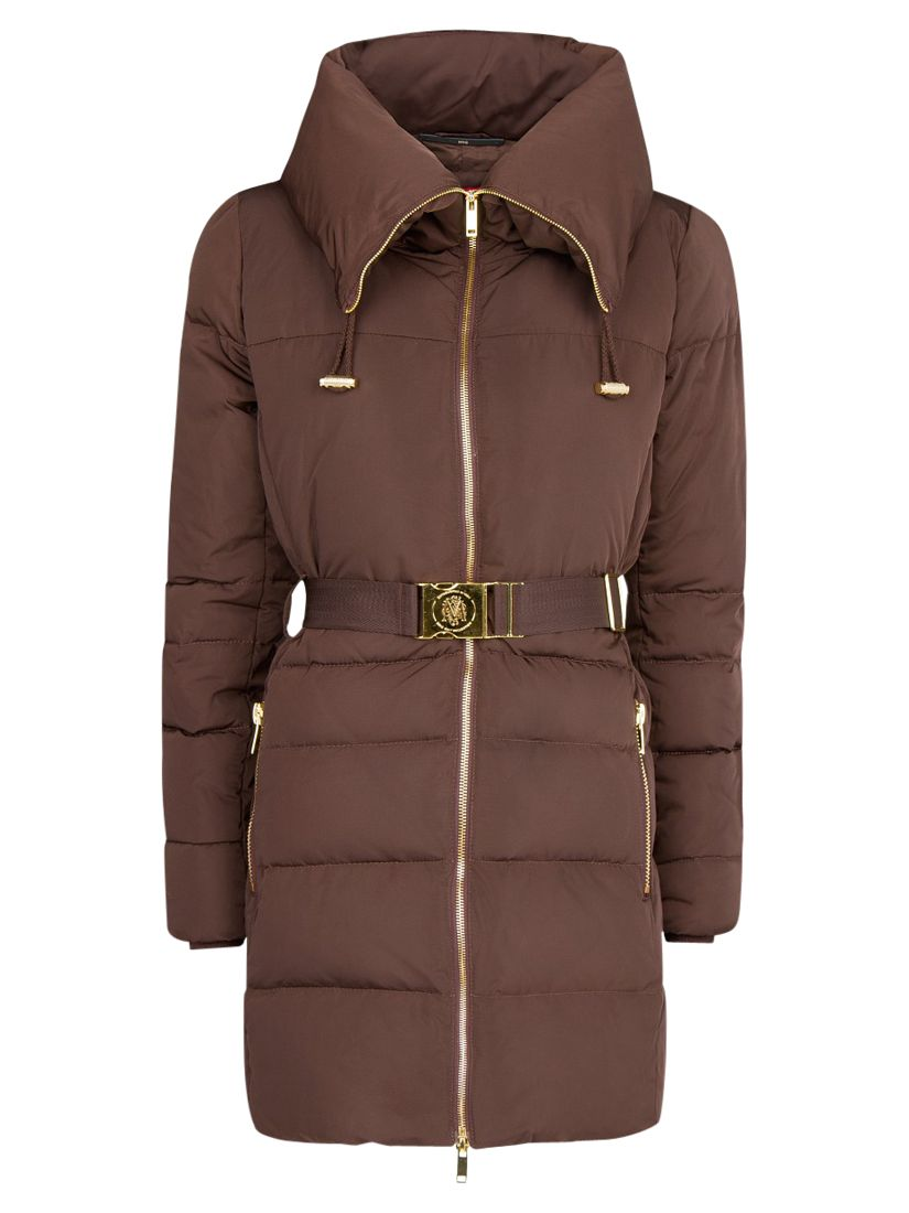 Mango Belted Quilted Coat