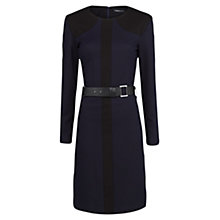 Buy Mango Belted Colour Block Dress, Blue Online at johnlewis.com