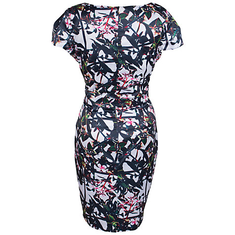 Buy Whistle & Wolf Satin Classic Floral Dress, Multi Online at johnlewis.com