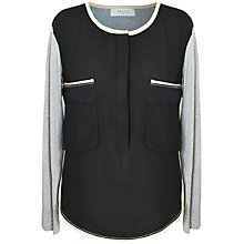 Buy Paisie Two Tone Blouse, Black Online at johnlewis.com