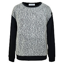 Buy Paisie Bouclé Top, Black and White Online at johnlewis.com