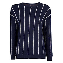 Buy Mango Pinstripe Wool Sweater Online at johnlewis.com