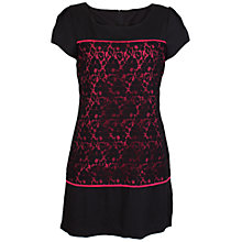 Buy Whistle & Wolf Lace Block Dress, Black/Coral Online at johnlewis.com