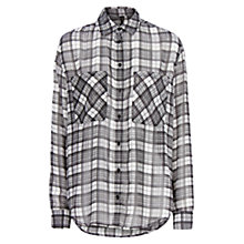 Buy Mango Check Shirt, Natural White Online at johnlewis.com