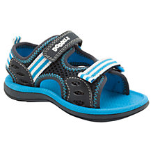 Buy Clarks Piranha Boy Sandals, Black/Blue Online at johnlewis.com
