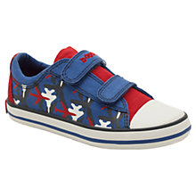 Buy Clarks Wing Walk Canvas Shoes, Blue/Red Online at johnlewis.com