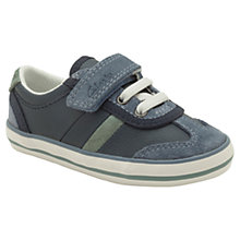 Buy Clarks Little Alf Leather Trainers, Navy Online at johnlewis.com