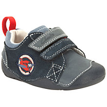 Buy Clarks Tiny Soft Plane Shoes, Navy Online at johnlewis.com
