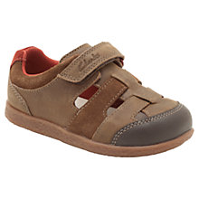 Buy Clarks Arden Boy Cut-Out Trainers, Brown Online at johnlewis.com