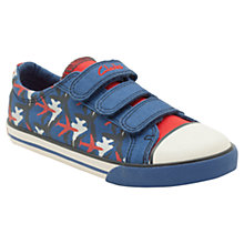 Buy Clarks Wing It Canvas Shoes Online at johnlewis.com
