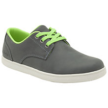 Buy Clarks Holbray Fun Denim Trainers, Denim/Lime Online at johnlewis.com