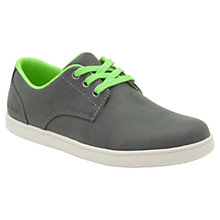 Buy Clarks Holbay Fun Leather Shoes, Grey Online at johnlewis.com