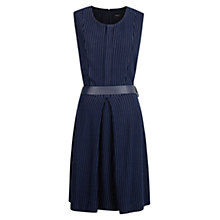 Buy Mango Pin Stripe Dress, Dark Blue Online at johnlewis.com