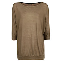 Buy Mango Dolman Sleeve Tee, Neutrals Online at johnlewis.com