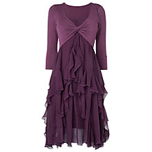 Buy Phase Eight Kells Jersey Silk Dress, Blackberry Online at johnlewis.com