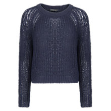 Buy Mango Knit Cropped Sweater, Blue Online at johnlewis.com