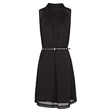 Buy Mango Polka Pleated Dress, Black Online at johnlewis.com