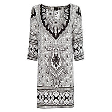 Buy Mango Paisley Print Flowy Dress, Black Online at johnlewis.com