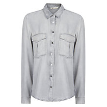 Buy Mango Tencel Shirt, Dark Grey Online at johnlewis.com