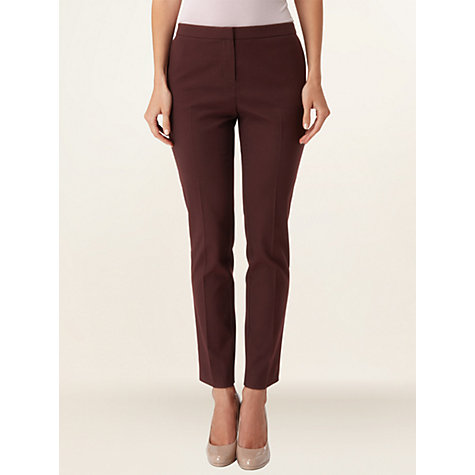 Buy Phase Eight Greta Jacquard Trousers, Bordeaux Online at johnlewis.com
