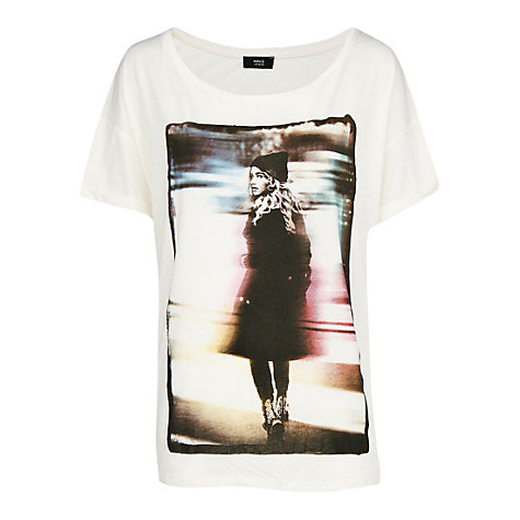 Buy Mango Print Photo T-Shirt, Natural White Online at johnlewis.com